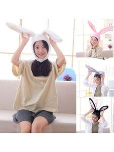 Women Men Funny Plush Ears Hood Hat Eastern Cosplay Costume Accessory Headwear Halloween Party Props C6UD