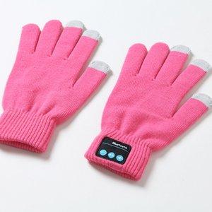 Теплое для сотового телефона Полезные Knit Открытый Bluetooth перчатки Осень Зима ветрозащитный Встроенный динамик / микрофон
