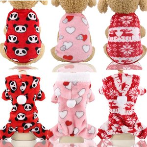 Dog Clothes Pajamas Fleece Jumpsuit Winter Dog Clothing Four Legs Pet Clothing Outfit Small Vest Star Cat Pet Costume