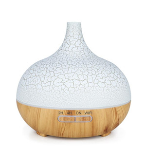 Smart WiFi Essential Oil Diffuser Air Humidifier Works with Alexa Google Home EU Plug Light Wood
