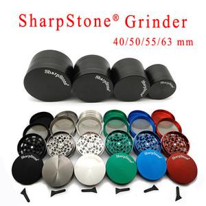 Grinder Metall 40/50/55 / 63MM Durchmesser Plätzchen RM Sharpstone 4 Teil Zink-Legierung Multi Farben Tabak Crusher Großhandel