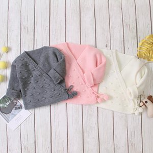 Toddler Baby Boy Girl Fresh Solid Color Sweaters Newborn One-piece Monk Clothes Warm Autumn and Winter Knitwear
