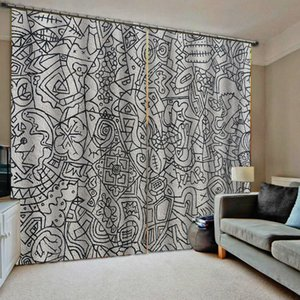 Morden curtains Customized size Luxury Blackout 3D Window Curtains For Living Room grey curtains