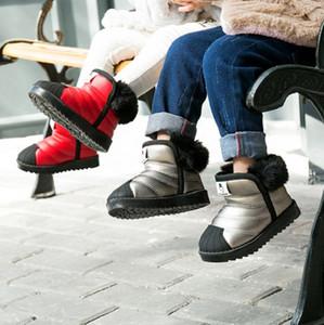 Crianças neve botas de inverno Botas de couro genuíno para crianças da criança calçado crianças sapatas do desenhador Marca Botas Chaussures pour enfants