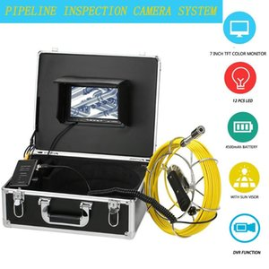 23MM Lens Pipeline Inspection Camera IP68 Waterproof Drain Sewer Pipe Industrial Endoscope System 12Pcs White LED Lights