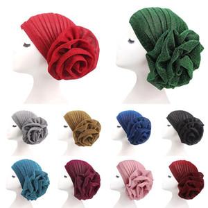 Fashion Womens Head Scarf Head Wrap Cap Bling Bright Silk Hair Satin Bonnet Head Wear Hats for Ladies 10 Styles