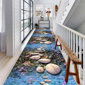 COBBLESTONE IMPRESSION 3D TRACKWAY TAPIS DOUX FLANNEL FLANNEL ENFANTS Tapis / Tapis Moderne Home Area Tapis Tapis Corridor Tapis pour salon1