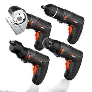 Lomvum Concrolless IncredDriver Electric STREL SET 4V USB Аккумуляторная беспроводная дрель 27шт. Биты Измененный витутный домашний DIY Tool 201225