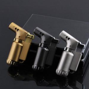 Tous Torche métal Briquet simple Tuyau Briquets pipe flamme Jet Briquet Sens Side Bend 3 couleurs FWC1733