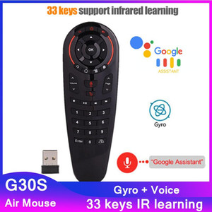 G30S Voice Air Mouse 33 keys IR learning 2.4G Wireless Remote control Smart Voice for android tv box X96Q Game PC PK G10S G50S