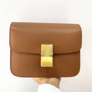 2020 Sommer-Art-Leder-Damen-kleine quadratische Tasche retro einfacher Ein-Schulter Tofu Handtasche Art und Weise Damen Flip Brieftasche heiße Karte Taschen Hit Farbe