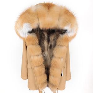 pelliccia grande collo di pelliccia abbigliamento Fox delle donne di inverno FURTJY Parker a medio e lungo sezione staccabile cappotto rivestimento di spessore warmX1018 cappotto Parco