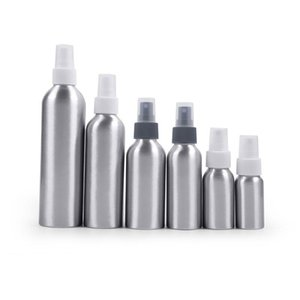 Mist Spray Pump Aluminum Bottles Sprayer Silver Metal Container Perfumes Toner Liquid Container With Perfume Pump
