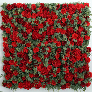 2.4x2.4 meters Wedding Backdrop DIY Decorations Flower Wall Artificial Silk Flower Row For Event Centerpieces Supplies