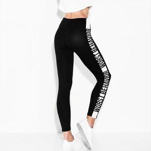 Sports Fitness Womens Leggings Fashion Casual Side Worst behavior Personality White Print Womens Leggings Drop Shipping