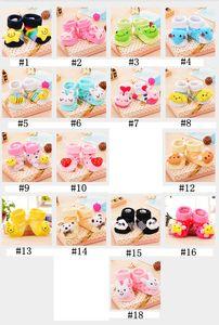 Baby-nette Socken Baby-Cartoon Fußboden-Socken-Stereo-Puppe-Socken-Kleinkind-Anti-Rutsch-Socken Slipper Baby Mädchen Jungen Tier Socke YFALS2113