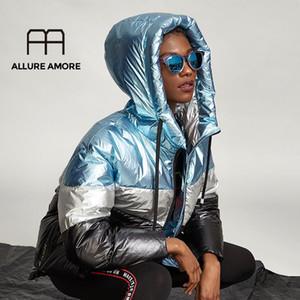Allure Amore Yeni Ceket kadın Büyük Boy Gevşek Kalın Sıcak Aşağı Ceket Yüksek Kalite Beyaz Ördek Aşağı 2020 Sıcak Modelleri