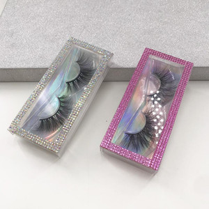 3D False Eyelashes Packaging Empty Lash Case Bling Glitter Eyelash Box without Eyelashes Faux Cils Box