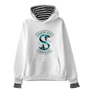 La goccia che spedice 2019 nuovo modo degli uomini hoodies Riverdale South Side Serpents Stampa 3d Felpa con cappuccio unisex informale Hip hop Hoody 1020