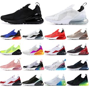 Nike air max 270 27C gros thé Berry BE femmes VRAIS hommes chaussures de course 270S étoiles blanches Triple arc-en-PEINE ROSE entraîneurs des hommes de chaussures de sport sport