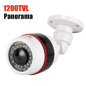 Cameras Panoramic Analog Camera Ao Ar Livre À Prova D 'Água 1200TVL 1.7mm Fisheye Grande Angular CCTV 700TVL Vigilância de Segurança CAM1