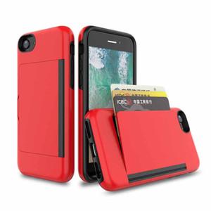 지갑 카드 홀더 케이스 아이폰 6 7 8 SE 2020 내진성 돈 포켓 슬림 지갑 카드 케이스 커버 아이폰 (12) (11) 프로 맥스 XR X를 6S