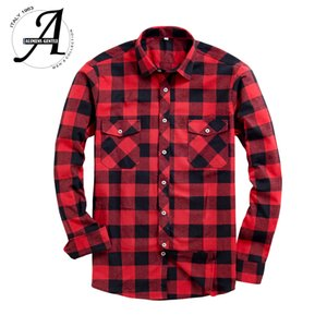 Brand New Flannel Plaid Shirt Men Casual Long Sleeve High Cotton Fashion Male Shirt Chemise Homme Camisa Social Masculina 201021