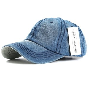 ZJBECHAHMU Summer Caps Casual Solid Denim Men Women Adjustable Baseball caps Vintage Hip Hop Caps Snapback Hats New Accessories LJ200916