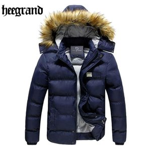HEE GRAND Winter Jacket Men 2020 Thick Hoodied Down Coats Men's Cotton Padded Overcoats Classical Solid MWY079