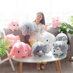 New Spherical Fat Hamster Husky Rabbit Elephant Animal Plush Toy Pillow Cushion Children's Toys Christmas Gift Home Decoration