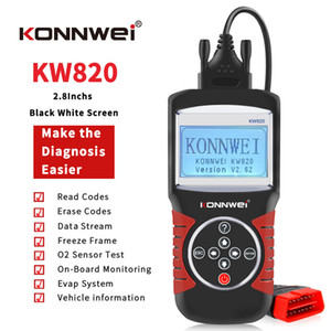 new Best OBD2 Auto Diagnostic Scanner Konnwei KW820 Support Printed Out Date Car Diagnostic Tool Car Scaner Engine Analyzer