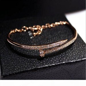 New European and American trend temperament diamond color bracelet bracelet nail polish genuine gold color female