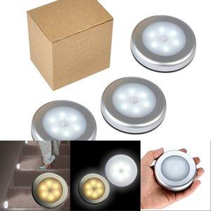 Luces LED Cuerpo Humano Lámpara de inducción Pasillo de la pared de la noche Luces de la noche Circular Color blanco y amarillo Fácil instalación inteligente 8 5JX N2