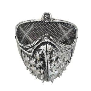 Máscaras de Cosplay Devil punk muerte Grim Reaper del remache de la mascarada de Halloween máscara máscaras cosplay Devil punk muerte Grim remache de la mascarada de Víspera Ojtf