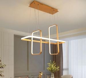 Nordic Modern led pendant lights for dining living room shop led hanging pendant lamp fixture Matte black white gold finished
