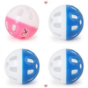 Jouets de compagnie plastique creux chat chat de chat coloré ball jouet avec petite cloche adorable voix cloche en plastique plastique balle interactif ballon de chiot de chiot 22 n2