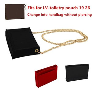Change Toiletry Pouch 19 26 Insert Makeup Handbag Travel Organizer Inner Purse Cosmetic Bag Base Shaper