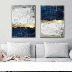 Abstract Painting Blue Painting Blue Wall Art Picture Canvas Poster Print Wall Art Pictures Living Room Decoration