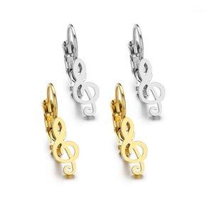 New Music Nota Forma Piercing Ear Hoops Brincos Para Homens Womem Clássico Brincos de Aço Inoxidável Ear Clipe Cuff Boho Jóias1