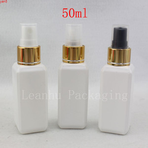 50ml White Perfume Mist Spray Bottle, Makeup setting spray Pump Cosmetic Container Perfumes and Fragrances For Women Emptyhigh qualtity