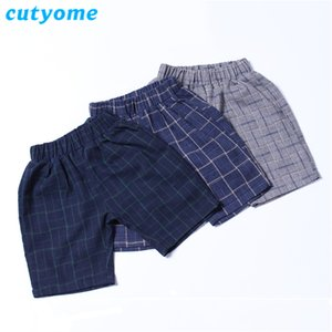 Cutyome a buon mercato China Summer Plaid Shorts per neonati Moda Fashion England Style Little Child Elastic Harem Brevi pantaloni Toddlers Kids C1103