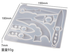6 cavità fai da te cristallo resina epossidica resina portachiavi per leva di barretta di barretta di difesa dello specchio dello specchio dello specchio del silicone per resina