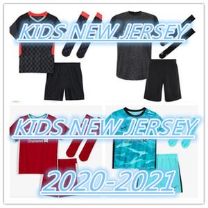 20-21 LIVERPOOLKID KIT + Sock EURO 100% migliore qualità Jersey di calcio Mane Casa Fuori TERZO GK shirt M.Salah Virgilio A.BECKER Jersey