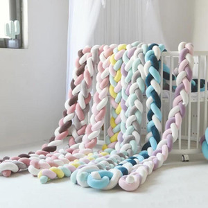 1M 2M 3M 4M Baby Bumper Bed Braid Knot Pillow Cushion Bumper for Infant Bebe Crib Protector Cot Room Decor