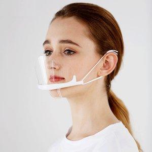 Maskeler Sağlık Şeffaf Chef Mutfak Tutucu Karşıtı Çene Sis İçin Plastik Gıda Otel Special Restaurant wmtTSs xhhair