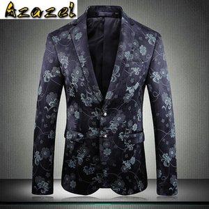 Azazel Jacquard Mens Blazer Luxury Blazer Masculino Two Bottons Party Wedding Prom Blazers Men Plus Size 5xl Flower Men