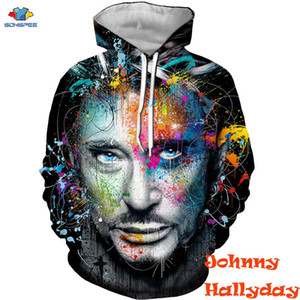 SONSPEE 3D Famous French Singer Johnny Hallyday Hoodie Music Guitar men Sweatshirt Cool Engine Motorcycle Hoodie Johnny Hallyday