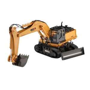 Новые игрушки Huina 1510 2.4G 1/16 11CH сплава RC Excavator Truck Engineering Строительный автомобиль с 680 'Звукового света y200413