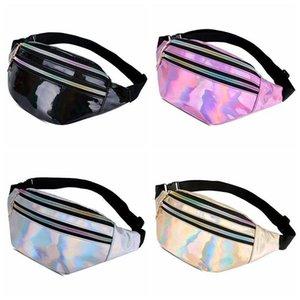 패션 팩의 새로운 기하학적 레이저 가슴 가방 패션 허리 가방 전화 파우치 가방 여성 저렴한 가슴 벨트