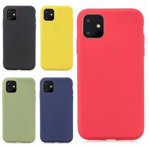 TPU Telefon Kılıfı iphone 11 için Yumuşak Kılıf Renkli Koruyucu Kauçuk Kapak Anti-Droping Anti-Toz Smartphone Kılıfı